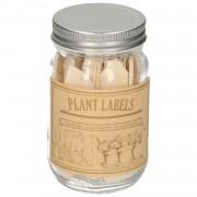 Dille&Kamille Etiquettes de jardin en pot, bois, 40 pièces