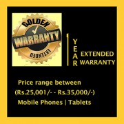 Extended Warranty on Mobile Phone (Rs.25 001/- - Rs.35 000/-)