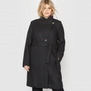 Manteau mi-long 60 % laine
