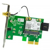 Placa retea wireless Intel Dual Band Wireless-AC 7260 cu riser card PCI-E x1 low profile - second hand