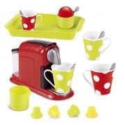 Pretend Play Food - 21 Pieces Gourmet Mini Coffee Expresso Maker Pretend Kitchen Play Set