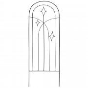 [neu.haus]® 6 x Virág futtató vas rács 35 x 108 cm növény futtató kerítés fekete