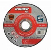 Диск за метал ф125х1.0х22.2мм A60T Inox - Raider