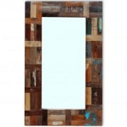 vidaXL Zrkadlo z recyklovaného dreva vidaXL, 80 x 50 cm
