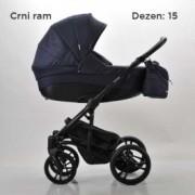 BEBETTO Tito kolica za bebe, set 3u1 DEZEN 15 + krevetac GRATIS