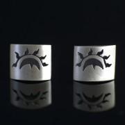 Eclipse - Silver örhängen solen