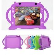 Cartoon Monkey Dětské pouzdro pro iPad Air 1 / Air 2 / 2017 / 2018 - Cartoon Monkey, Purple