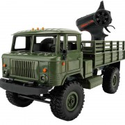 WPL B-24 Full Body 1:16 Mini 2.4GHz RC 4WD militaire Truck controle auto Toy (groen)