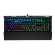 Клавиатура Corsair K70 RGB MK.2 Rapidfire - Cherry MX Speed, гейминг, механична, RGB подсветка, черна, USB