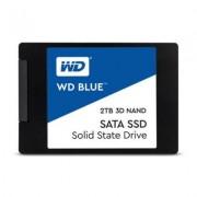 Твърд диск ssd wd 2tb 2.5 инча sata iii 3d nand, read-write: up to 560mbs, 530mbs, син, wds200t2b0a