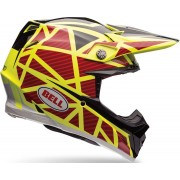 Bell Moto-9 Flex Straped Casque de motocross Rouge Jaune L