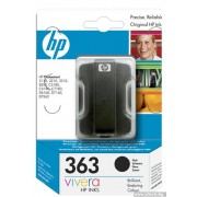 HP 363 Black Ink Cartridge for Photosmart, 6ml (C8721EE)