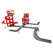Fire Station Emergency Toy A Great Play Set For Your Little Fireman Drive Your Fire Vehicles Up And Down Ramps And Roads 79pcs Set