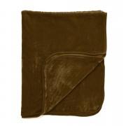Dreamscene Luxurious Faux Fur Throw - Chocolate - 125x150cm - Brown