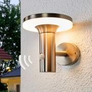 Lampenwelt.com Applique solaire LED à détecteur Eliano - LAMPENWELT.com
