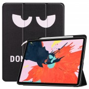 Pattern Printing Tri-fold Stand Smart Leather Protection Shell for iPad Pro 12.9-inch (2018) - Do Not Touch Me