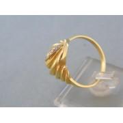 Zlatý dámsky prsteň dvojfarebné zlato vzorovaný DP60410V