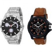 Armado AR-BLK-7162 Combo Of 2 Modish Analog Watches-For Men