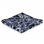Tailor Toki Pochette de costume bleue et blanche à motif floral rétro