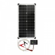 Panou solar monocristalin 30 W cu regulator de încărcare