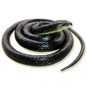 Homdipoo Realistic Fake Rubber Toy Snake Black Fake Snakes That Look Real Prank Stuff Cobra Snake 49 Inch Long