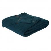 ZUIVER Plaid ZUIVER ASTER tricote bleu