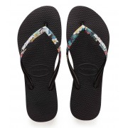 Havaianas Slippers Flipflops Slim Strapped Zwart