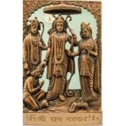Satya Gold Plated Ram Darbaar Idol-Ram Ji Sita Ji Laxman Ji Hanuman Ji [Metal] - 1 Pc