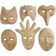 Diverse Dekorationsmasker, H: 12-21 cm, 6stk.