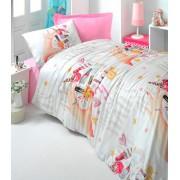 Lenjerie de pat pentru copii Valentini Bianco model Beautifully