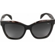 INVU Retro Square Sunglasses(Black)