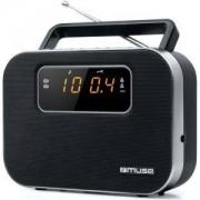 Радио Muse M-081 R, FM/MW, LED display, 230V ~ 50Hz, Чернo, MSE00056