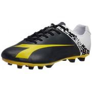 Diadora Men's Elegante Black, Yellow and White Football Boots - 9 UK