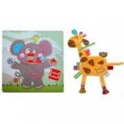 Pachet Label Label minipaturica puzzle Produsul 1 - elefant girafa