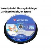 Verbatim 10er-Spindel Blu-ray-Rohlinge 25 GB printable, 6x Speed