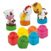 Set de joaca cuburi moi parfumate Ferma animalelor Clemmy
