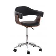 CLP Sedia da ufficio Brügge in similpelle, nero , nero, altezza seduta