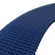 Módulo rejilla transversal azul para curvas AstralPool - alto 35 mm, ancho 245 mm