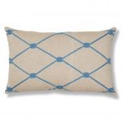 La Forma Sierkussen Melrose blauw design 100% katoen (30 x 50 cm)