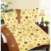 Krepp ágynemű huzat garnitúra 3 részes 140x200 cm - rózsaszín virág mintával