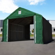 Profizelt24 Lagerhalle 6x12m PVC dunkelgrün Zelthalle, Lager, Industriezelt