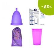 Промопакет менструална чашка MeLuna, дезинфекцираща чаша и 10 таблетки за стерилизация Размер XL Софт (Soft) Пръчица