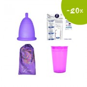 Промопакет менструална чашка MeLuna, дезинфекцираща чаша и 10 таблетки за стерилизация Размер M Софт (Soft) Топче