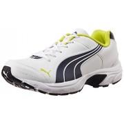 Puma Men's Axis IV XT DP White, Periscope and Sulphur Spring Running Shoes - 6 UK/India (39 EU)