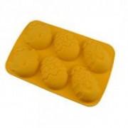 Húsvéti tojás sütőforma, szilikon sárga (12343)