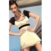 Sukienka PI-026 (beżowy)
