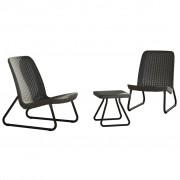 Keter Rio Set mobilier pentru terasă, grafit 218158