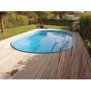 Ovalbecken Toscana 135 cm tief 0,6 mm adriablau