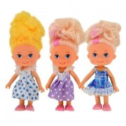 """American Fashion Dolls, 5"""". Set of 7 with different clothes. Introduce them to your Barbie collection. Great favors for Birthday Party gifts"""