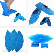 Disposable Plastic Shoe Cover Water Resistance Dust Safety (Pack Of 100 Pcs)